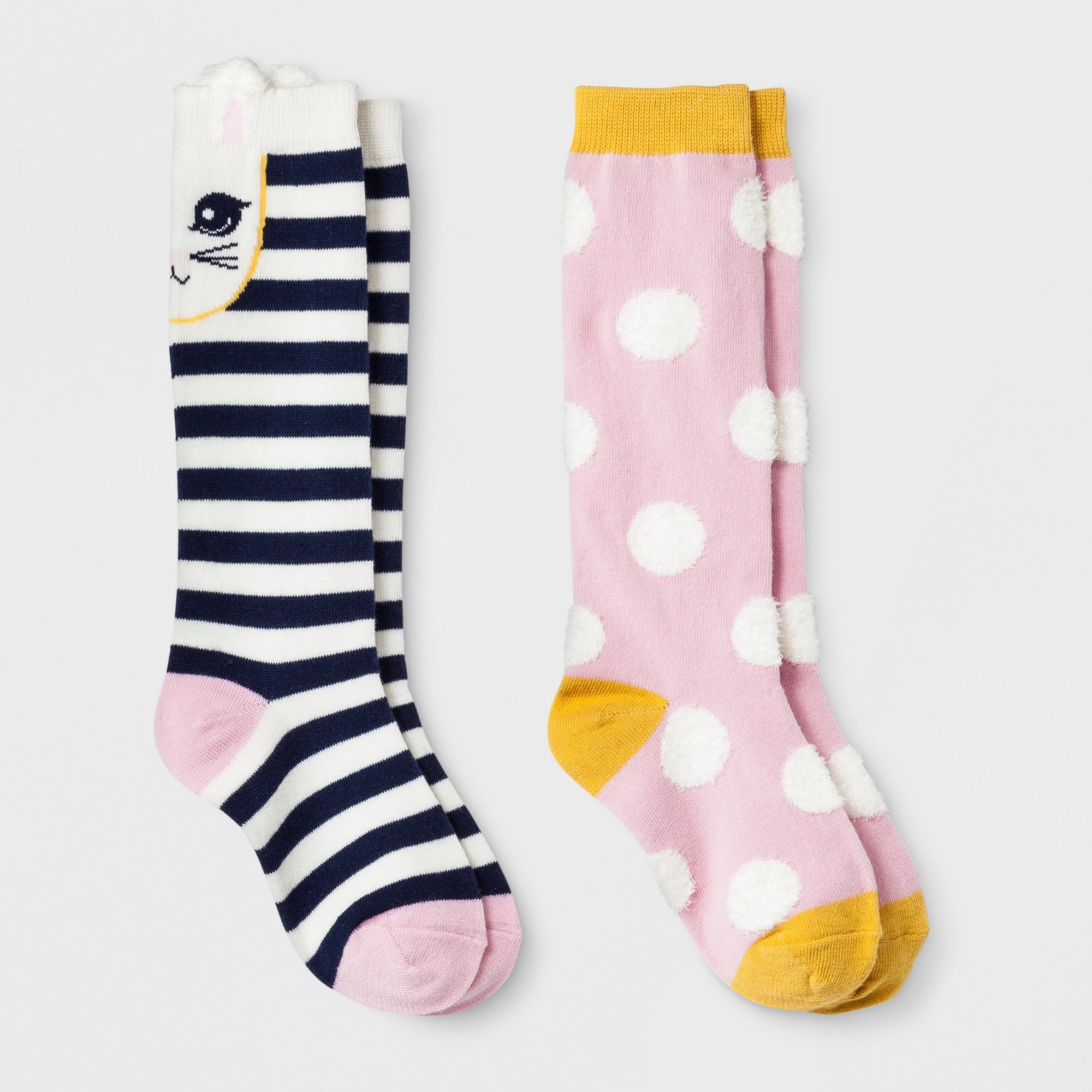 9f12993ca60 Girls  2pk Knee High Socks - Cat   Jack Blue S