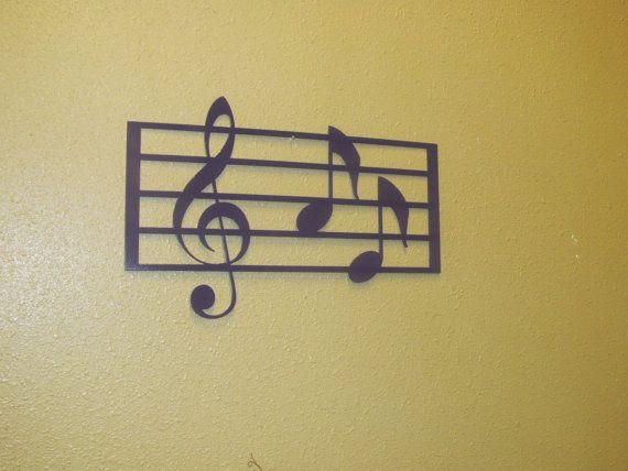 Music Notes Metal wall hanging | Music notes, Metal walls and Wall ...