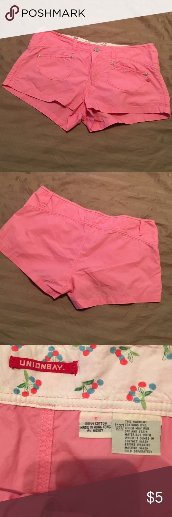 Pink shorts! EUC Unionbay size 11 Pink shorts! EUC Unionbay size 11. Worn washed few times, great cute and causal look. Fast shipping and bundle discounts. Unionbay Shorts