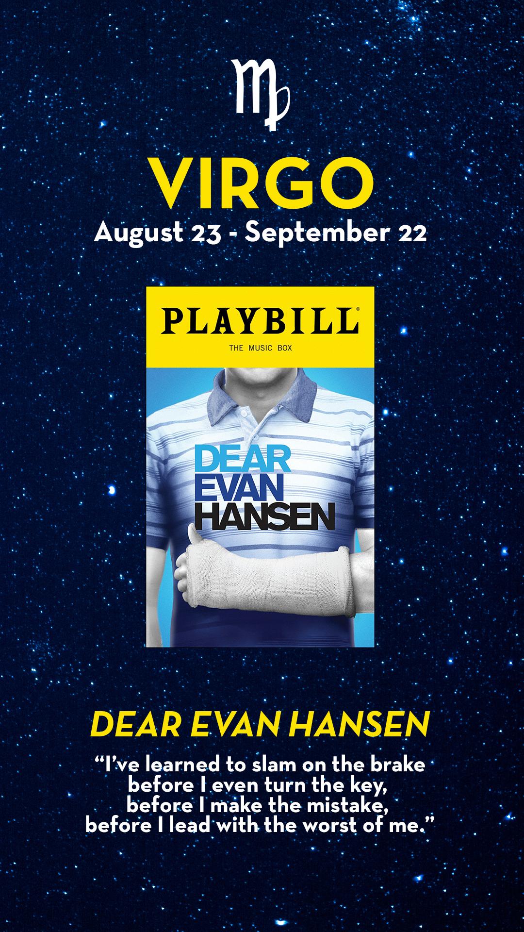 Pin By Playbill On Broadway Astrology Dear Evan Hansen Dear