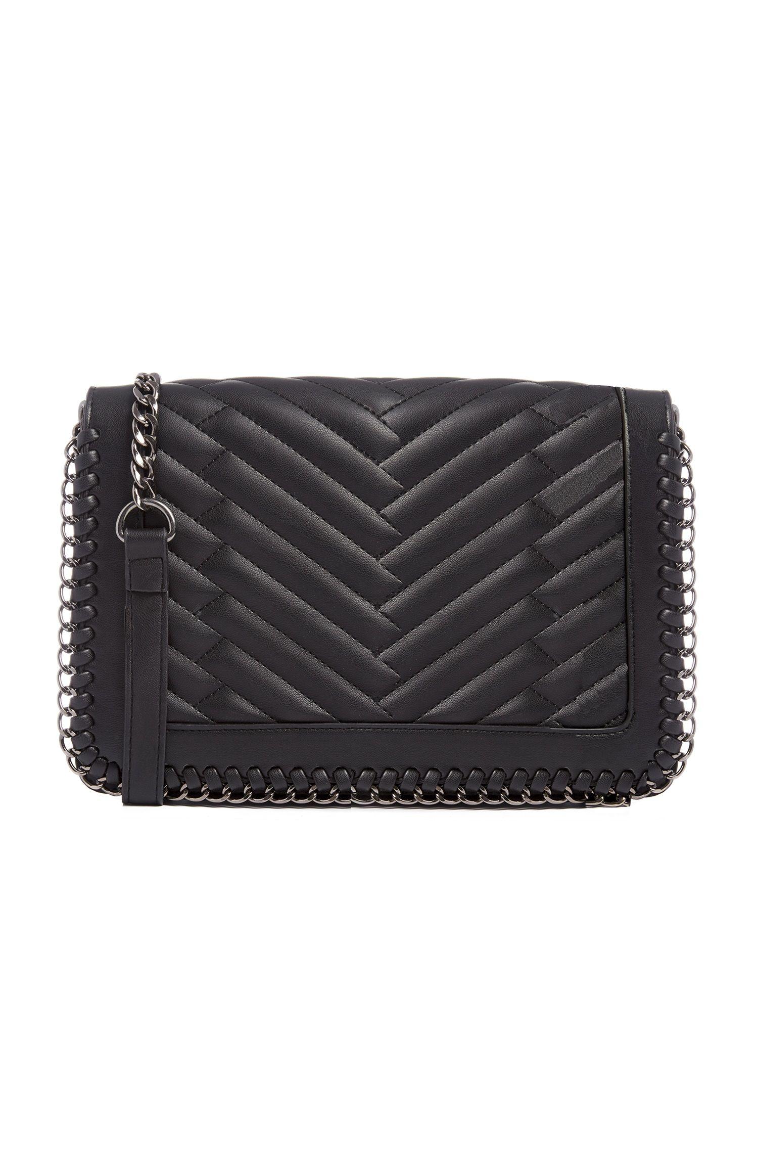 9975ff43e2b Primark - Black Woven Chain Bag