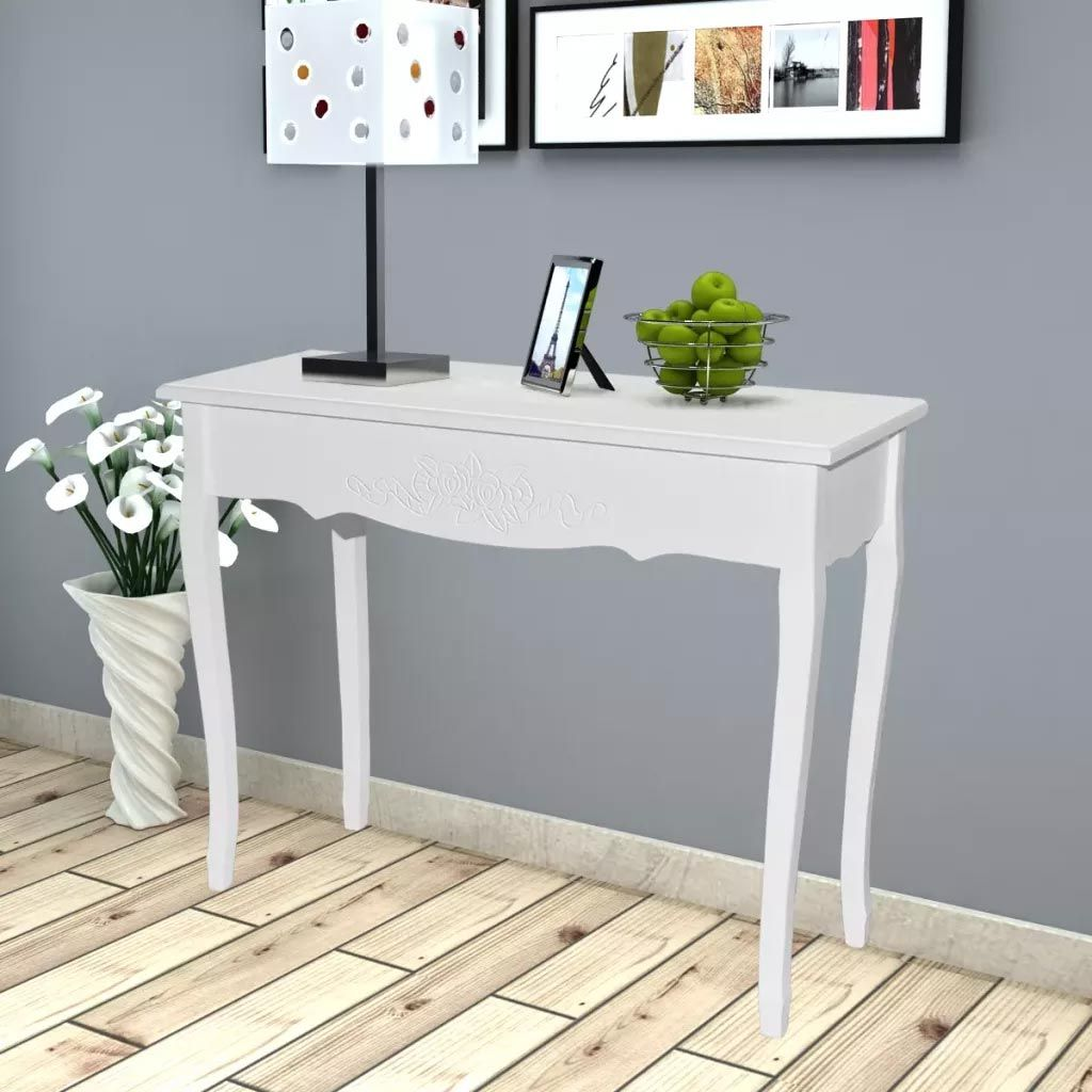 White Modern Dressing Console Table White Console Table Modern Console Tables Console Table Hallway