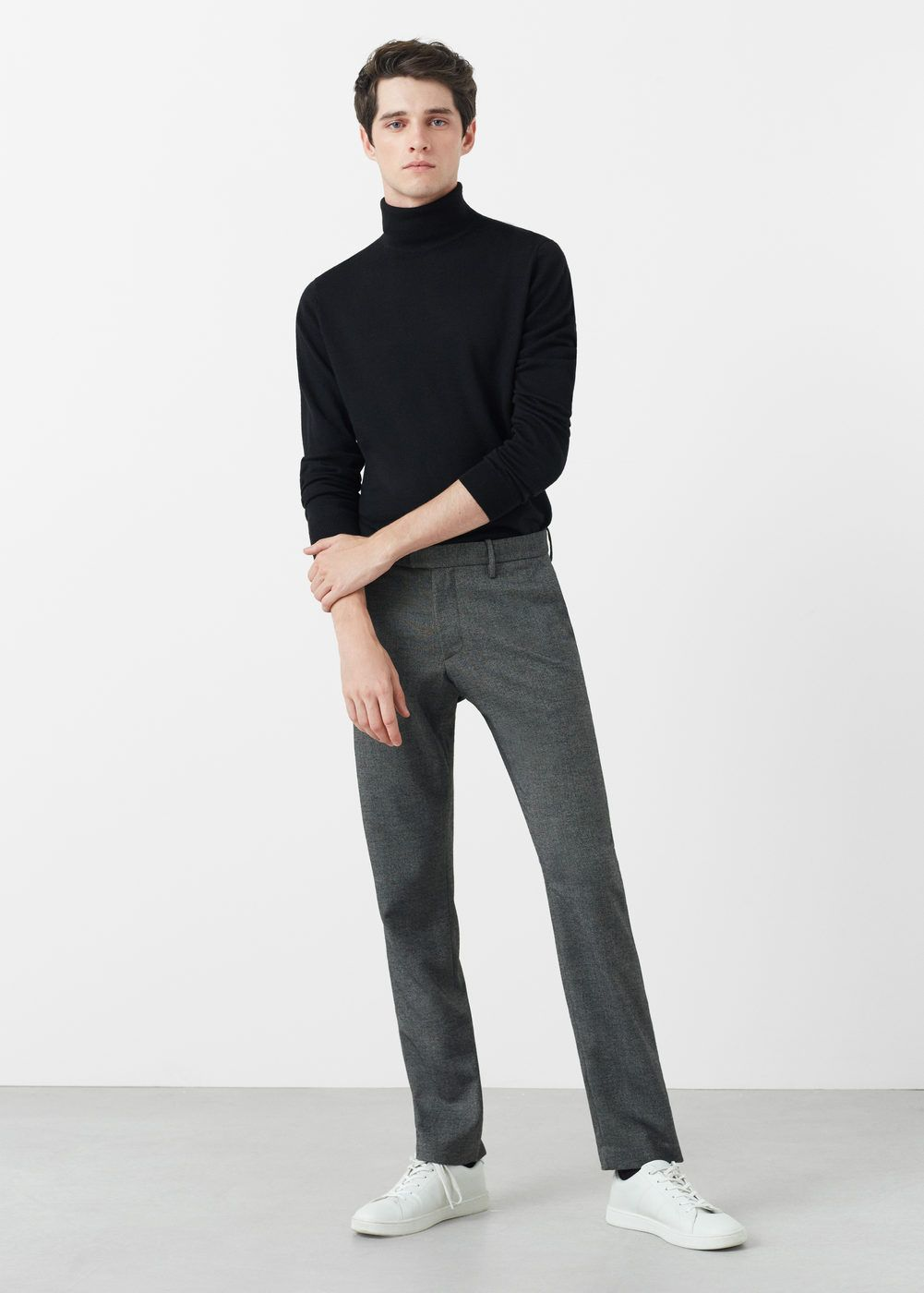 Turtle neck wool sweater , Men in 2019