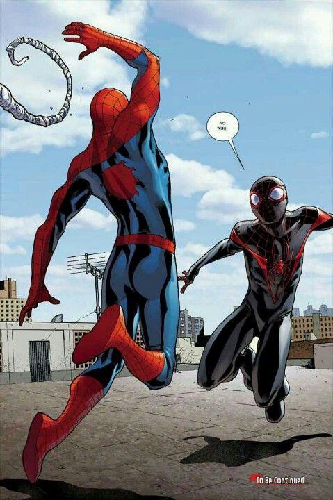 Peter Parker meets Miles Morales - Spider-Men #1   Spiderman, Spiderman  comic, Marvel spiderman