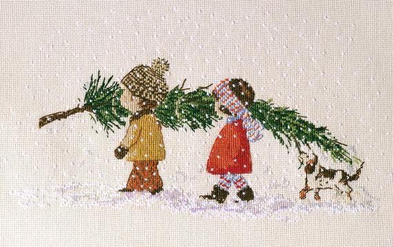 Patrón de punto de cruz de árbol de Navidad Patrón de pdf de Navidad Punto de cruz de Navidad …