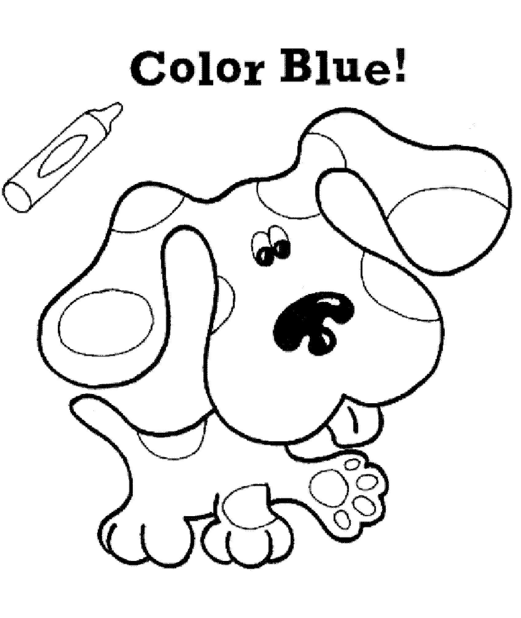 Blues Clues Coloring Notebook Pages Check More