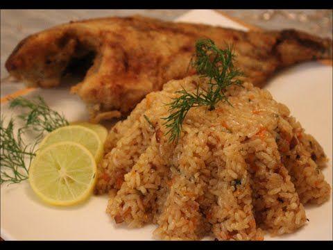 طريقة عمل ارز السمك البني الذهبي Food Dishes Seafood Dishes Food