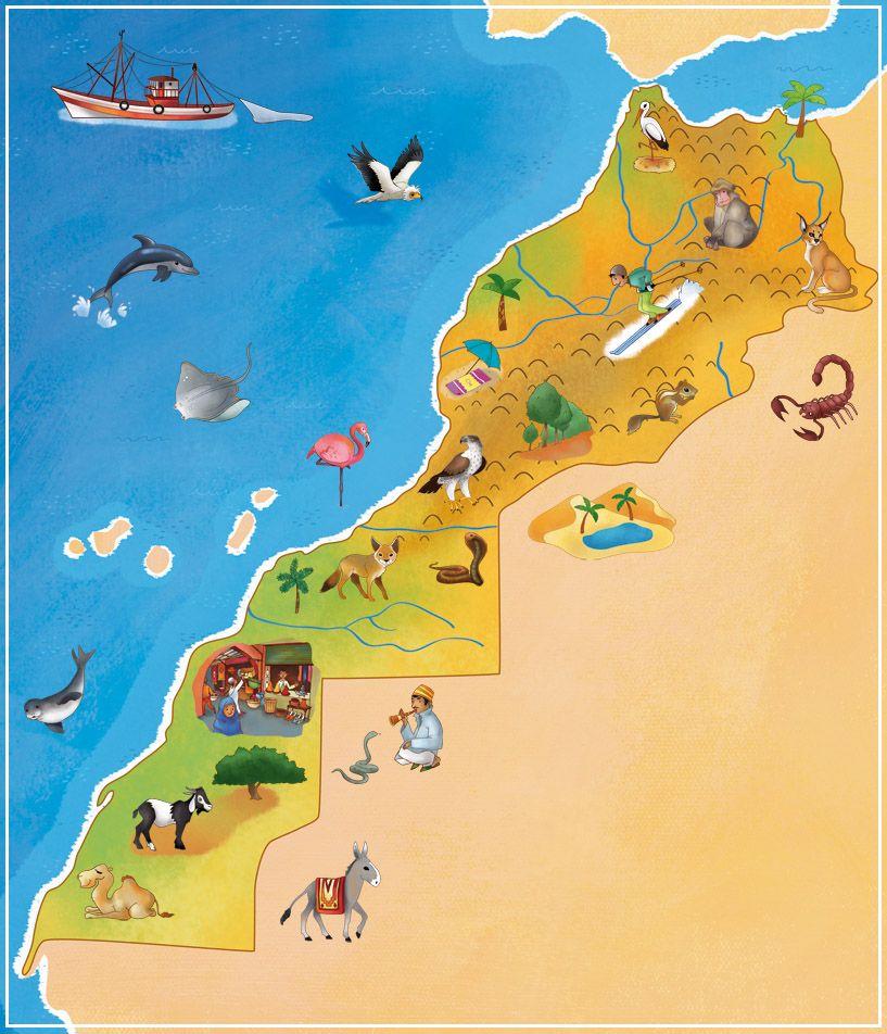 Carte Maroc Maroc Tourisme Fes Maroc