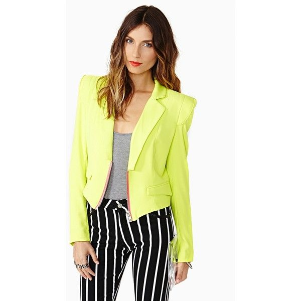 Power Play Blazer ($78) ❤ liked on Polyvore