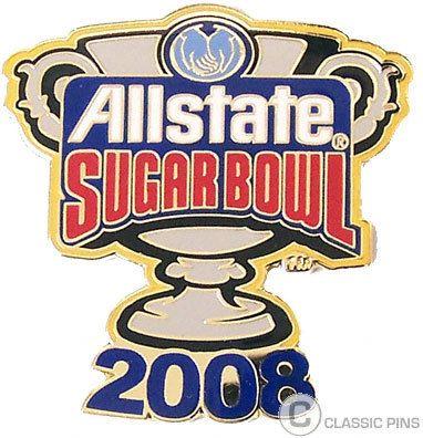2008 Sugar Bowl Logo Pin