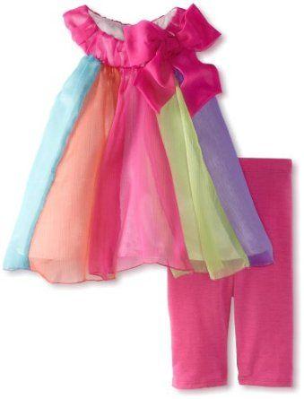 Bonnie Baby-Girls Infant Circus Strap Legging Set $26.99