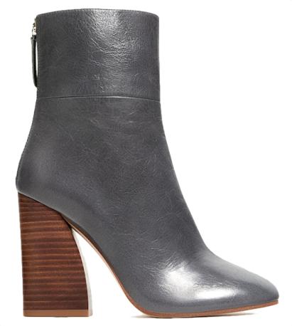 bottines-en-cuir-gris-a-talon-en-bois-zara   chaussures   Chaussure ... d6124d2b0a55