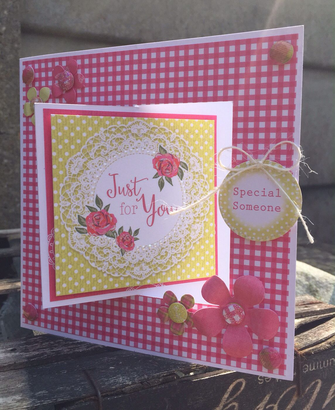 Paper Pads For Card Making Part - 39: Card Designed By Julie Hickey Using Countryside Paper Pad And Candi