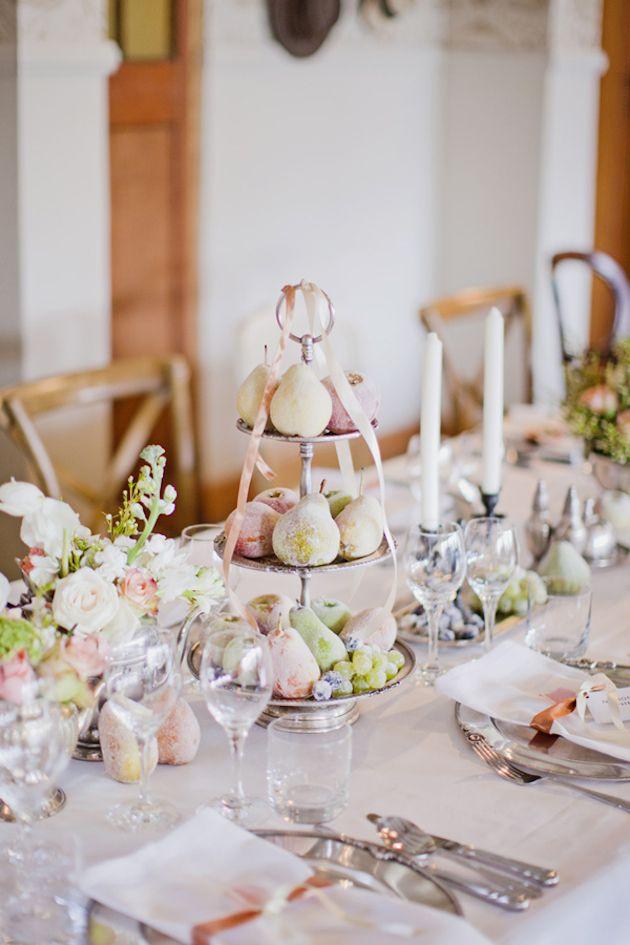 Ripe Romance Fruit Wedding Fruit Centerpieces Wedding Table