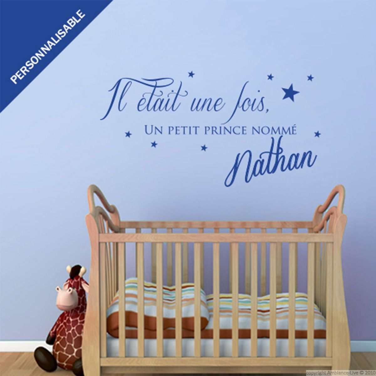 Sticker prénom personnalisable Un petit prince | Wall decals and Walls