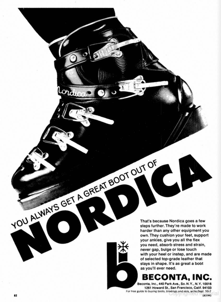 SKIING Jan 1967 - Nordica, Beconta - pugski