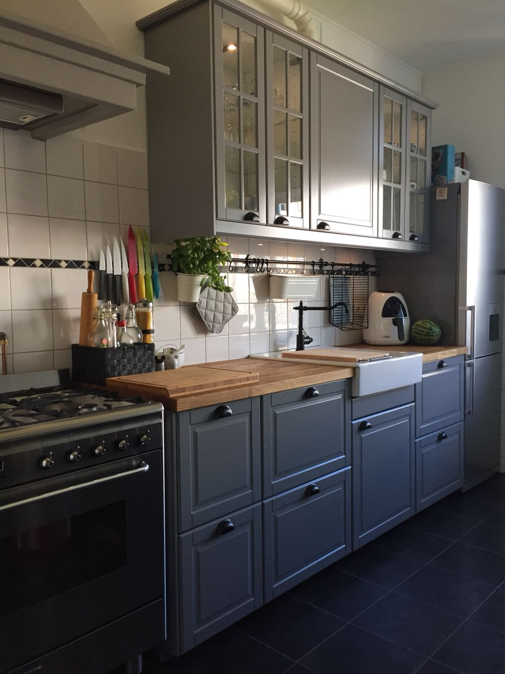 New kitchen ikea bodbyn grey kitchen inspiration - Mini cocina ikea ...