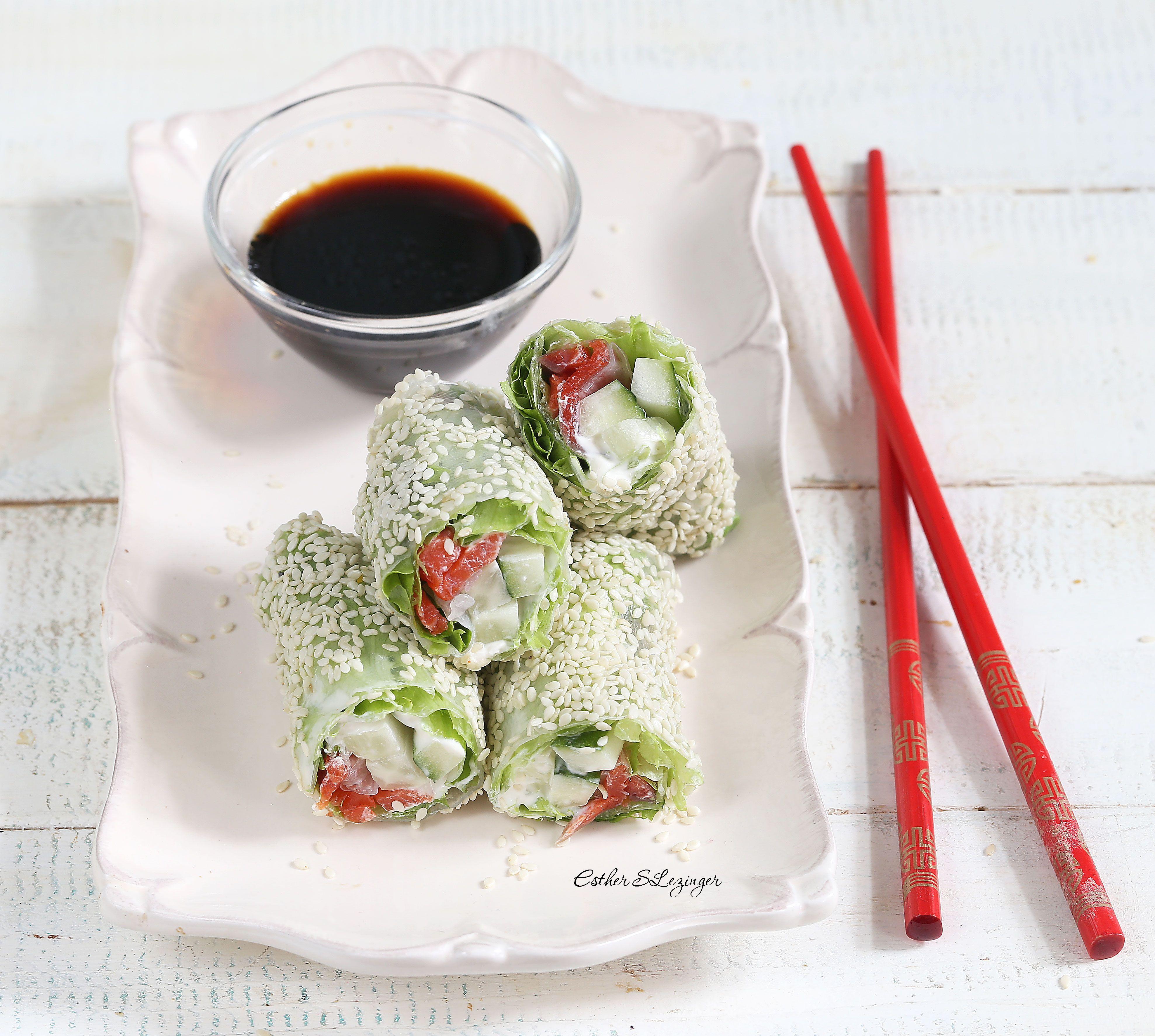 Полезная закуска: спринг-роллы с красной рыбой и овощами | Рецепты ...
