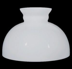 12 inch white milk glass kerosene oil lamp shade straight top lighting replacement lampshade for antique vintage or contemporary hanging light fixture student desk table pendant lamp opal white milk glass mozeypictures Image collections