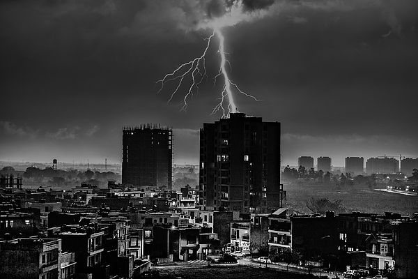 """Featured artwork in the group """"Office Art Decor"""" on @FineArtAmerica """"Thunder"""" by Ajay Jagta.  #officeartdecor #office #art #officeartwork"""