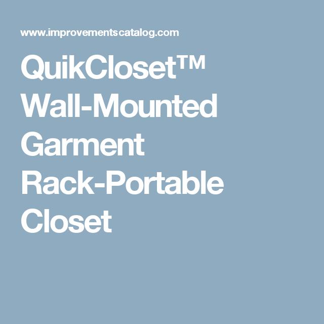 QuikCloset Wall Mounted Garment Rack