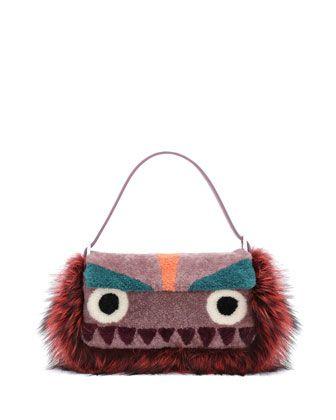 1b3d025429 Baguette Shearling Fur Monster Bag Purple Multi | Bag Mania! | Fendi ...