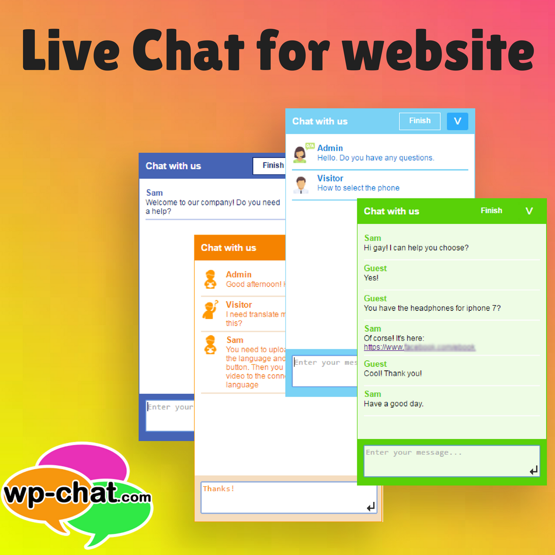 Live chat for website to support visitors, convert them
