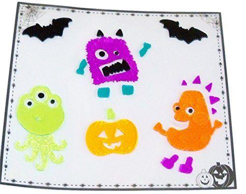 Halloween Reusable Gel Window Clings Monster Night Out 29 Clings 1 - halloween window clings