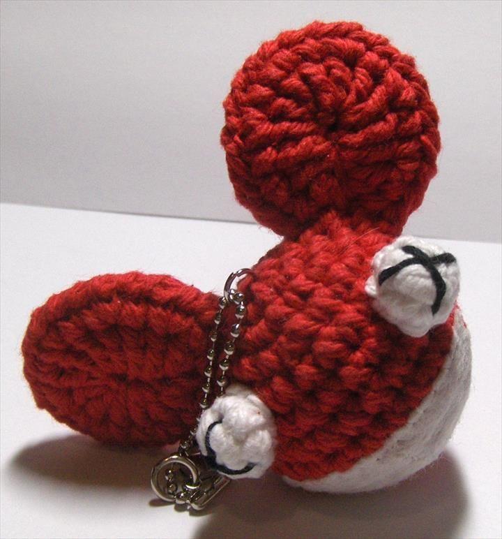 684e5cc65 62 Easy Handmade Fun Crochet Pattern Keychains