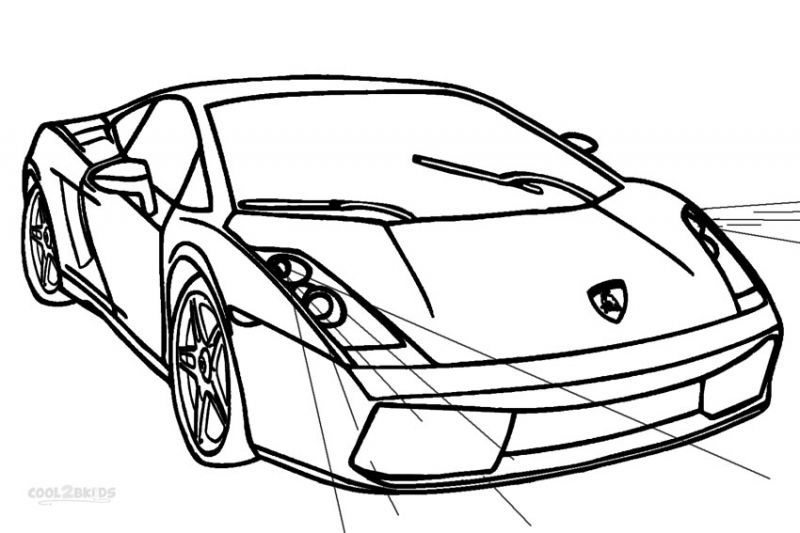 Coloring Page Airplane Outline : Lamborghini murcielago coloring pages transportation coloring