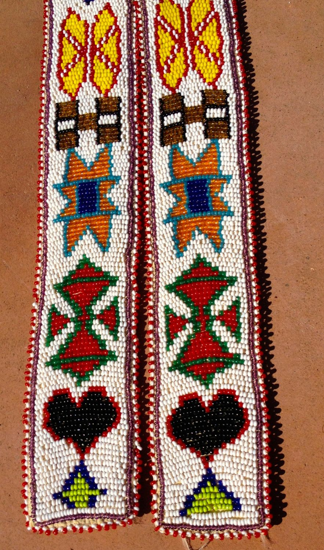 Beaded belt // Native beaded belt // Indian beaded belt by MillTownBoards on Etsy
