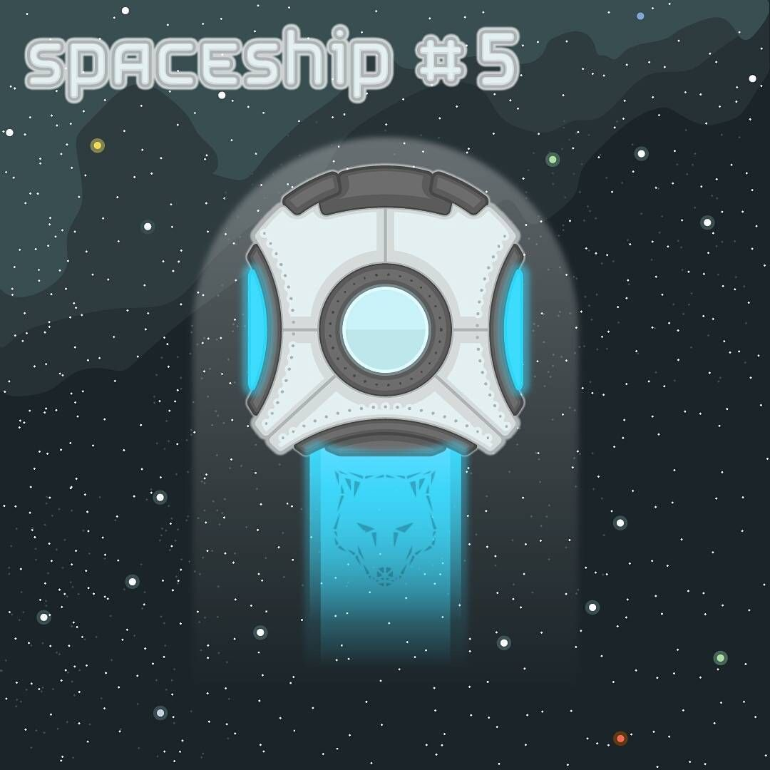 simanka space spaceship 2d design outline game vehicle