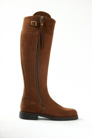 Picture of Made to Measure: Spanish Riding Boots suede: camel, green, stone