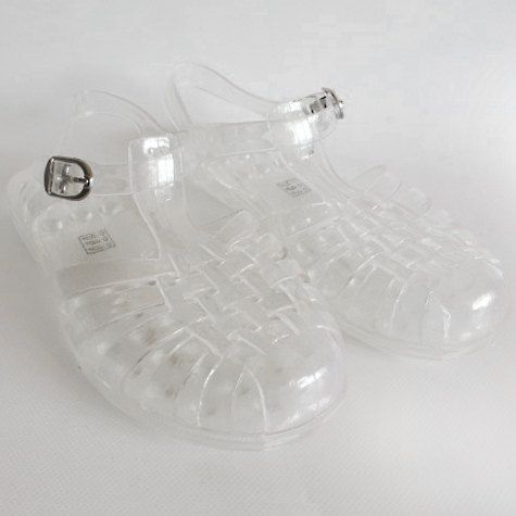 NEW LADY Women Clear Summer Beach Retro Ankle Strap Jellies Jelly Sandal Size 8