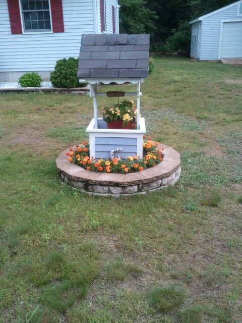 Wishing Well on Pinterest Scrap Planters and Flower Boxes