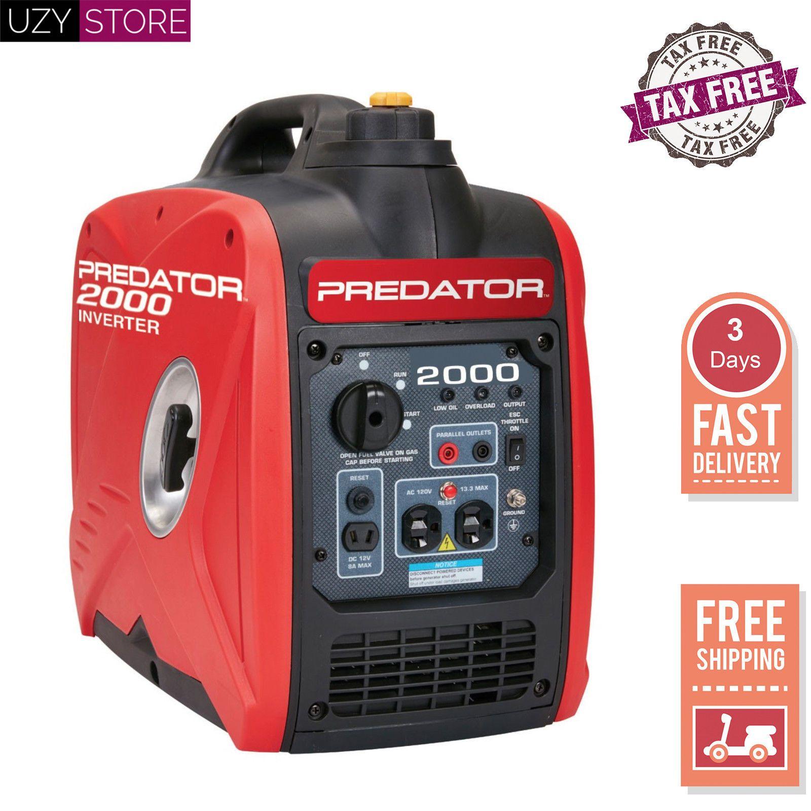 2000 Watt Generator Inverter Super Quiet Light Weight Small