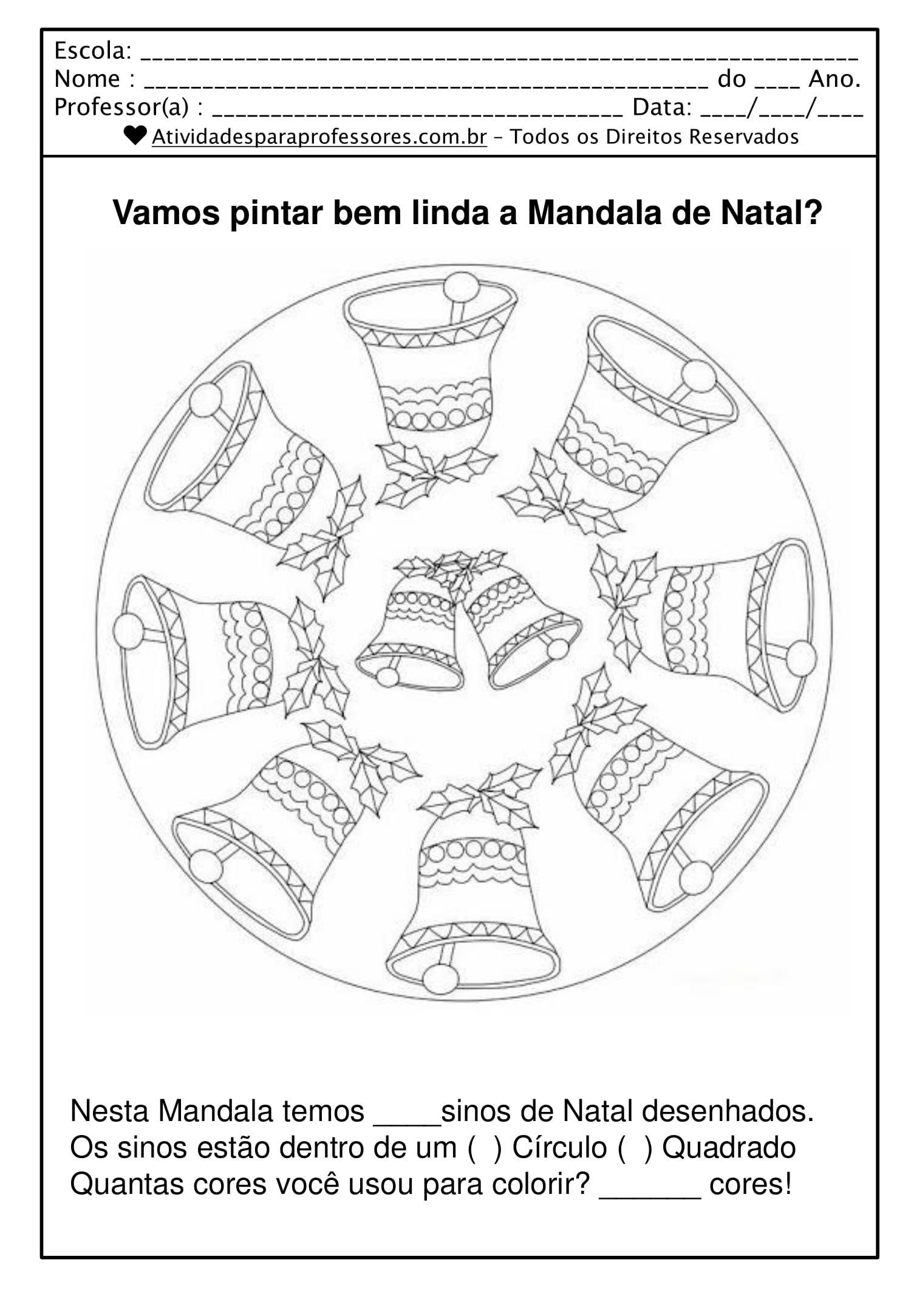35 Mandalas De Natal Para Colorir Em Pdf Com Imagens Mandala