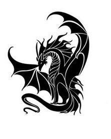 lace winged dragon - Google Search | Black dragon tattoo ...
