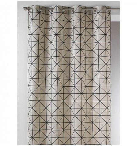 Rideau coton imprimé Scandinave noir | déco ethnique | Pinterest