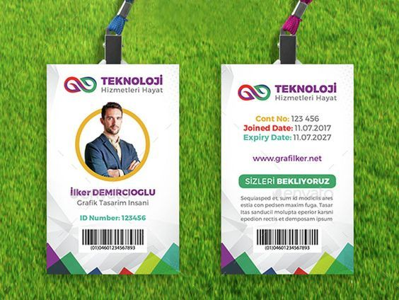 Employee-Id-Card-Template-Design: | Id | Pinterest | Card