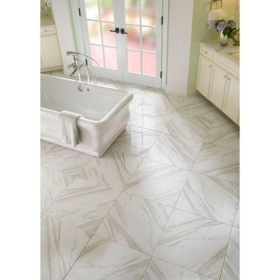 Ms International Calacatta Ivory 24 In X Glazed Polished Porcelain Floor And Wall Tile 16 Sq Ft Case Ncalivory2424p At The Home Depot