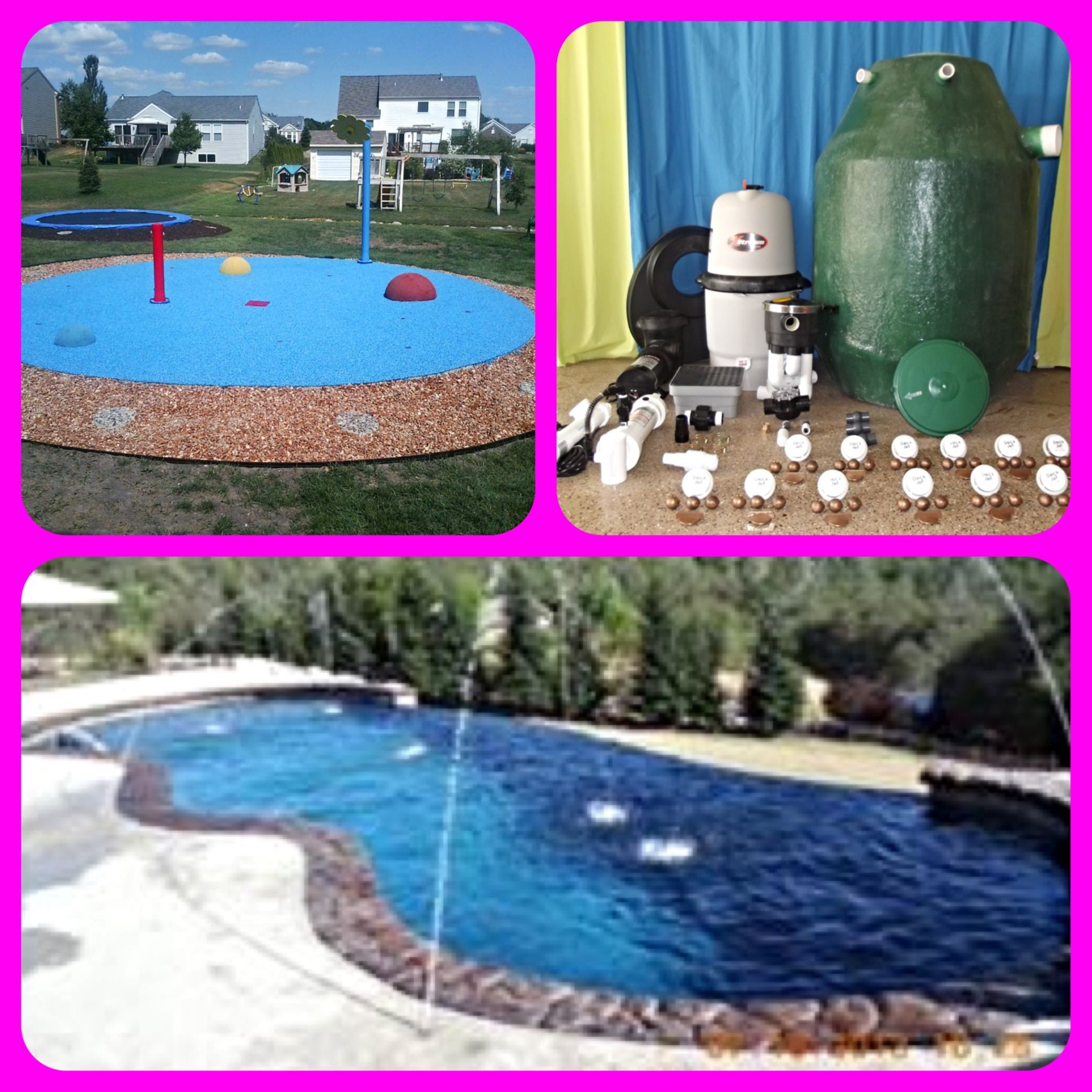 My Splash Pad Residential Backyard Splash Park Install, DIY Splash Pad Kit  And Add Dimension