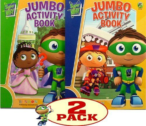 SUPER WHY Coloring and Activity Book Set (2 Books) by PBS KIDS ...