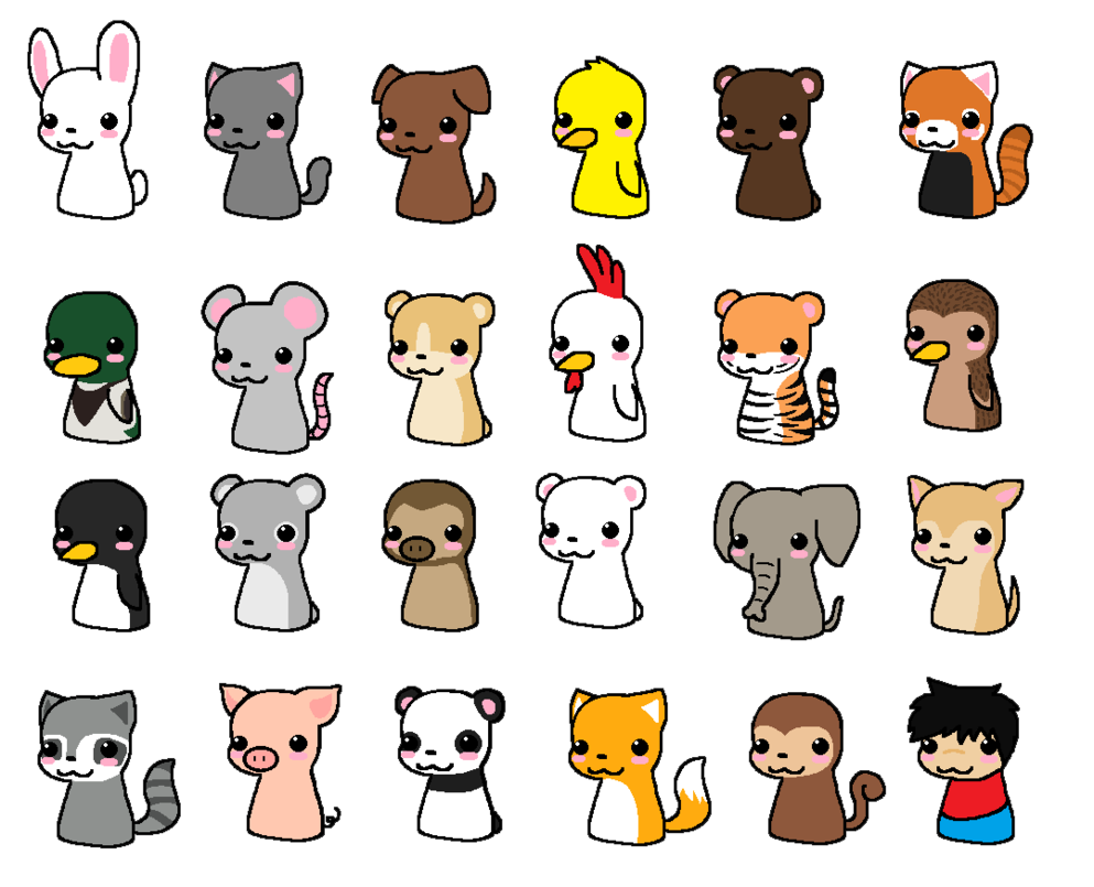 Cute Chibi Animals Inspiration In 2019 Cute Anime