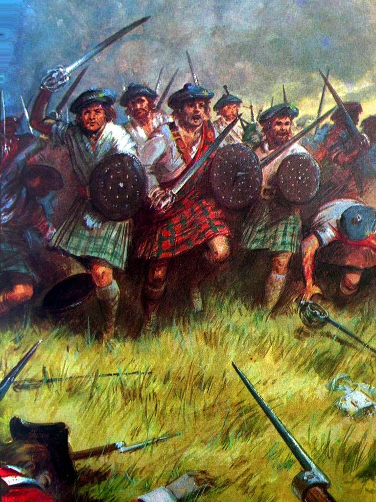 Scottish clansmen at the Battle - 204.5KB