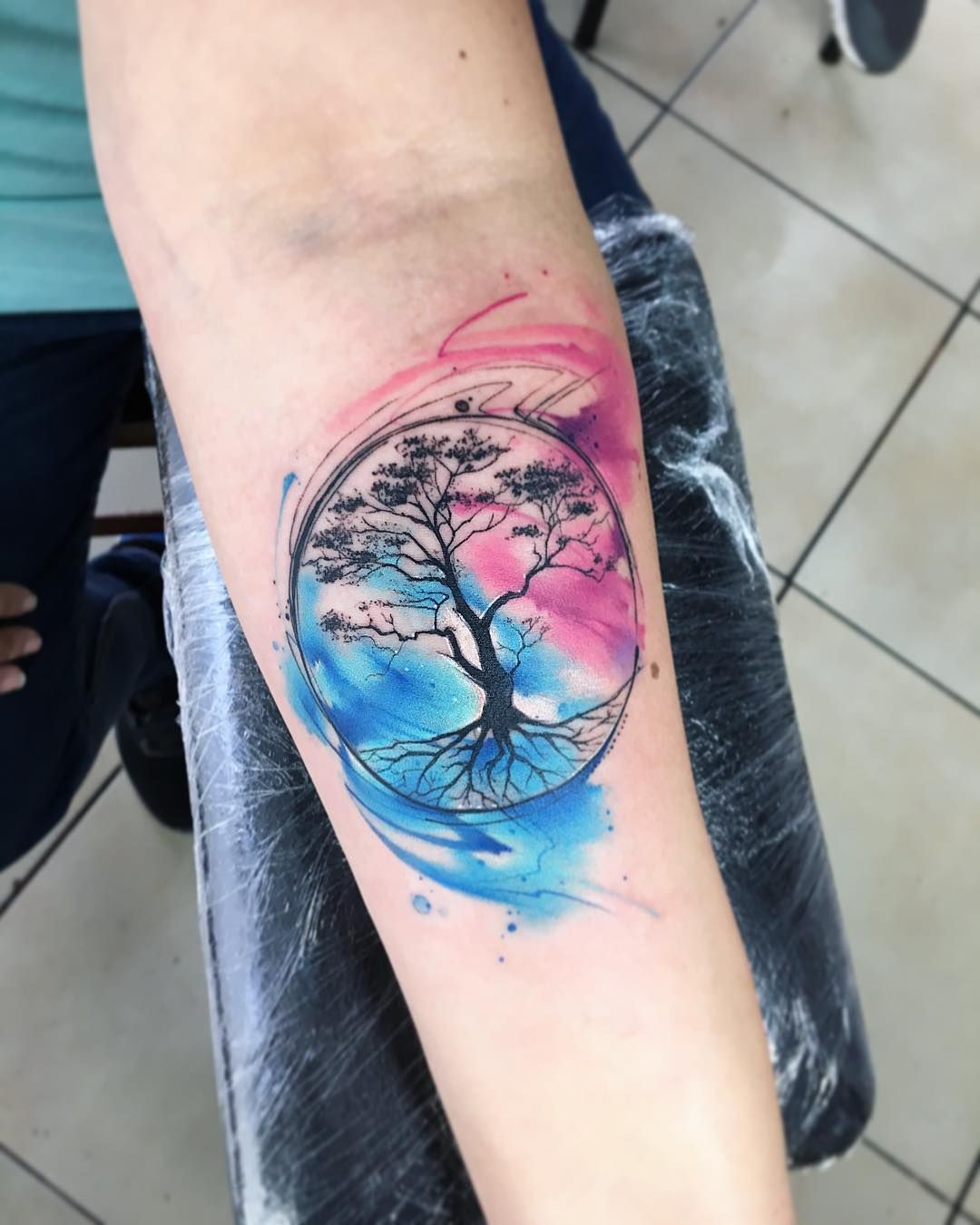 Treelive Ab Tattoo Tatuaje Colors Aquarelle Watercolor Tree