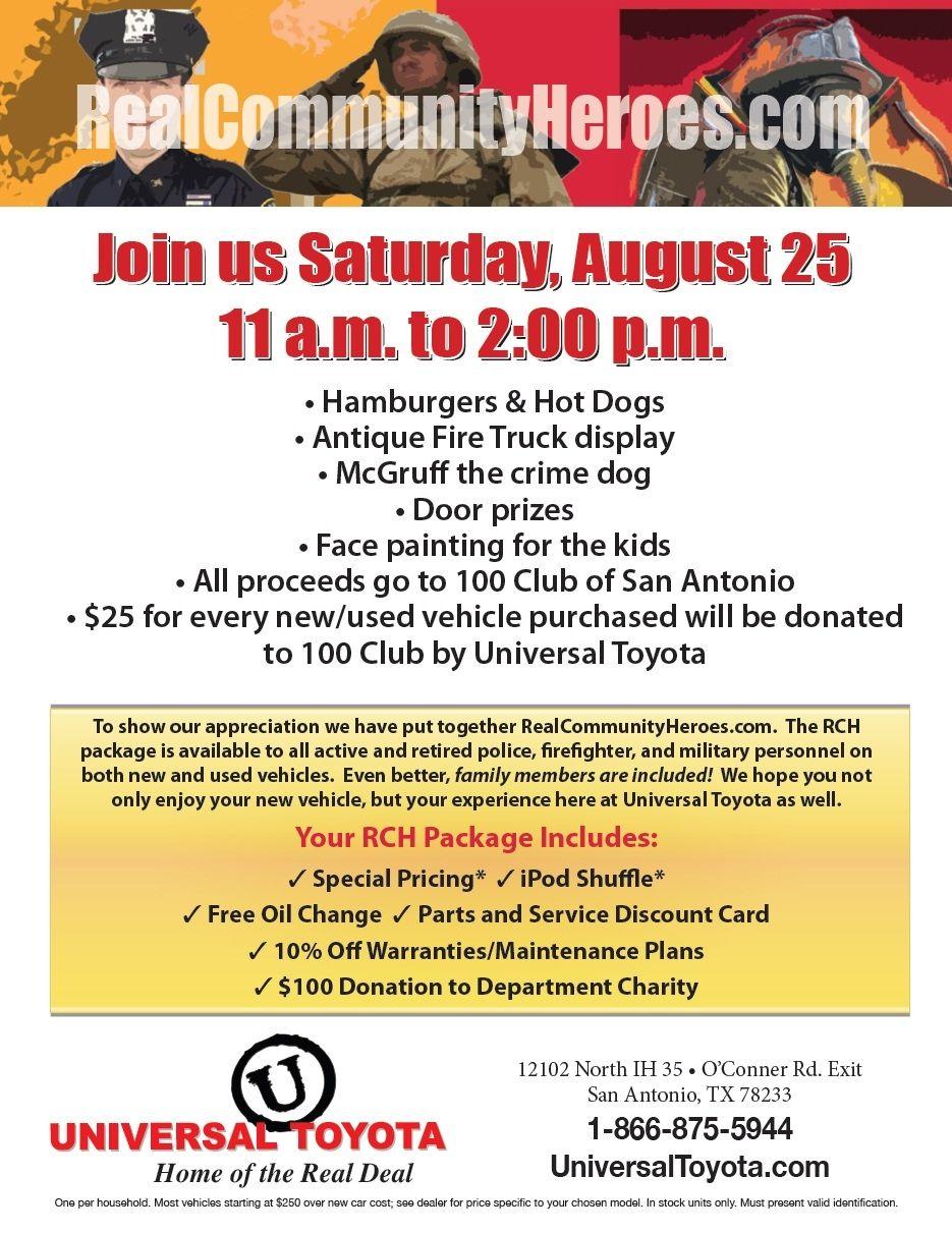 100 Club of San Antonio Event Saturday August 25, 2012