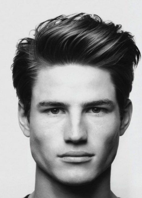 Stylish And Casual Modern Pompadour Mens Hairstyles Short Sides Long Top  2014 For The Professionals