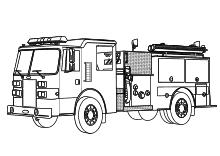 Feuerwehrauto Malvorlage Feuerwehrauto Feuerwehr Autos