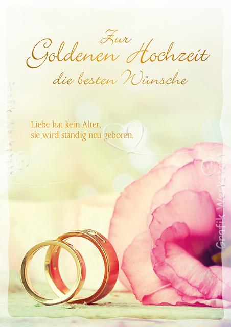 Zur Goldenen Hochzeit Doppelkarten Grafik Werkstatt